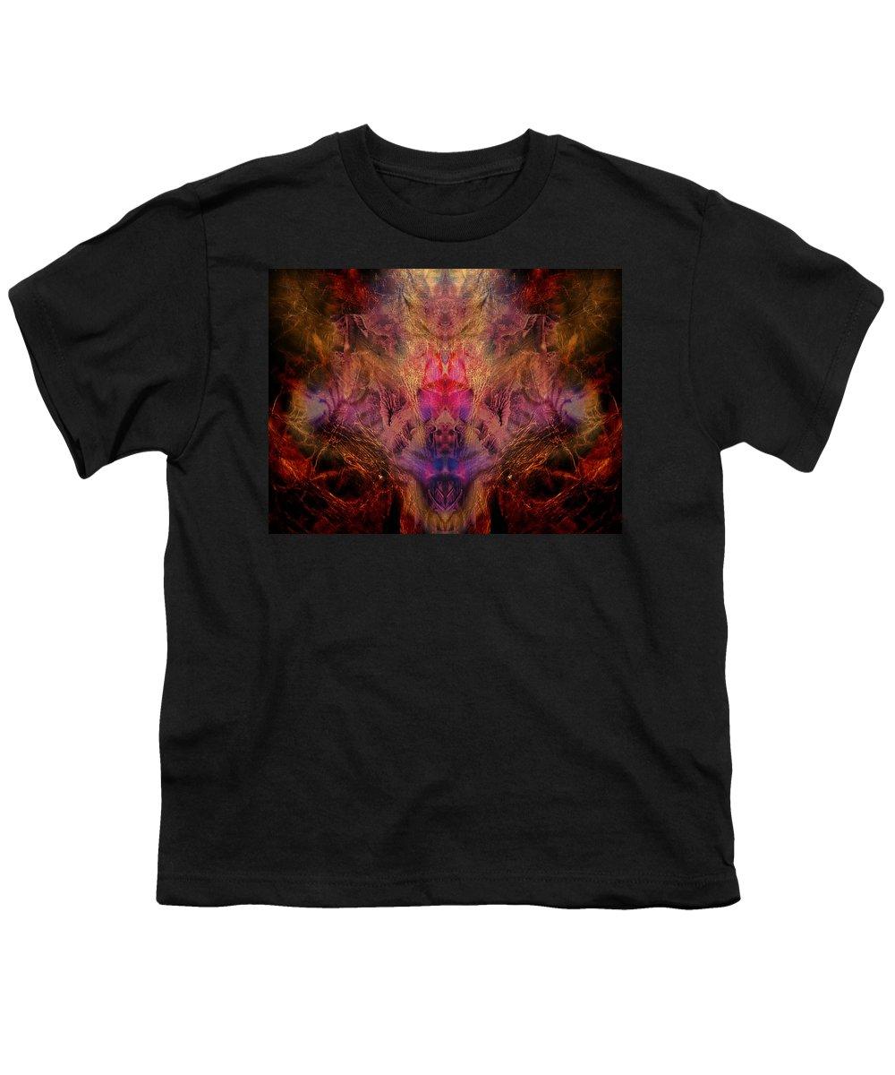 Digital Youth T-Shirt featuring the digital art Decalcomaniac Mirror by Otto Rapp