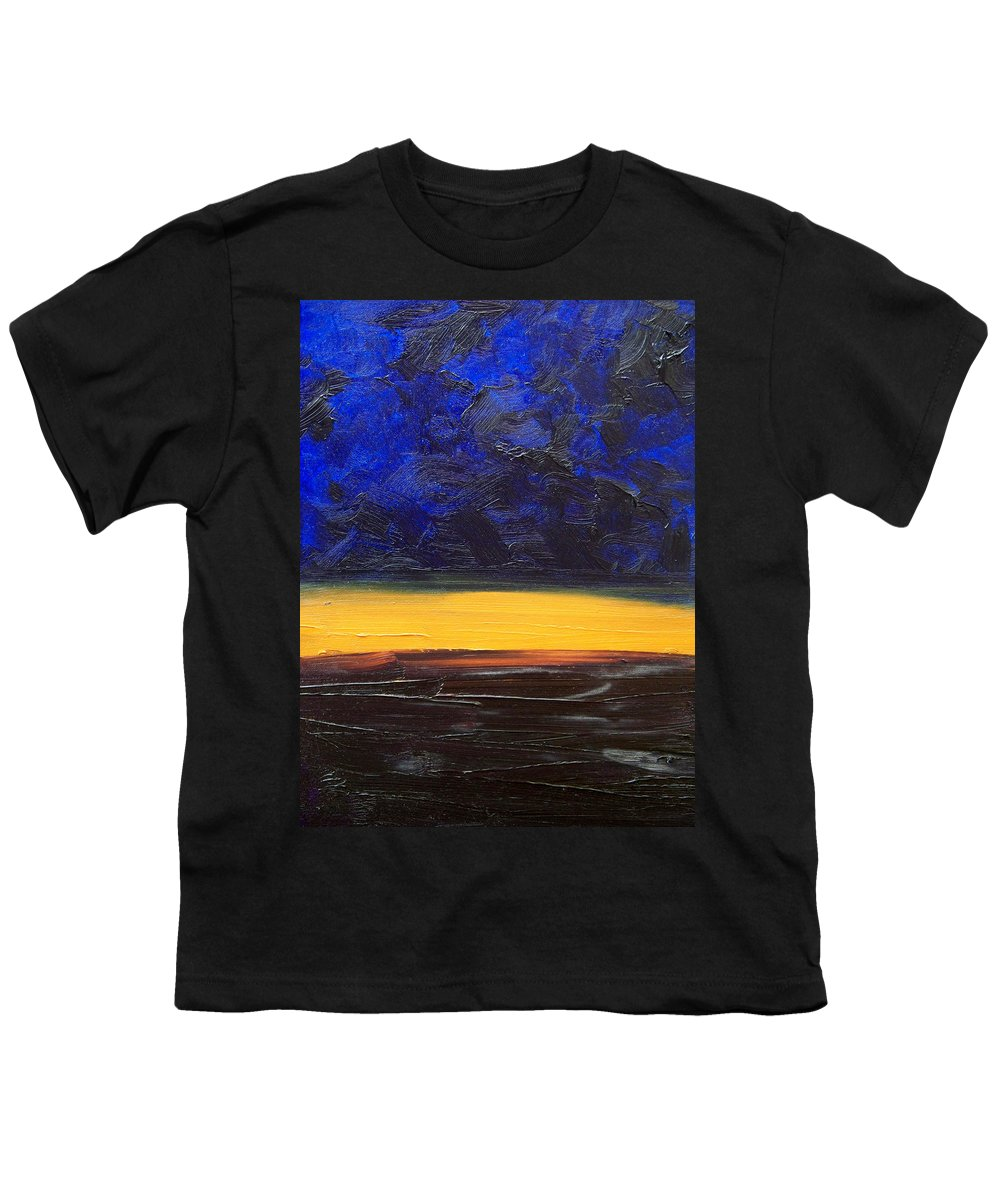 Landscape Youth T-Shirt featuring the painting Desert Plains by Sergey Bezhinets
