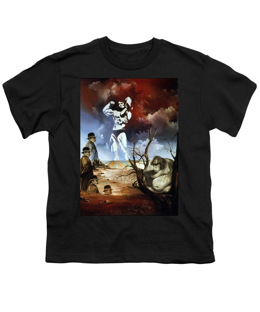 Surrealism Youth T-Shirt featuring the painting Evolution by Otto Rapp