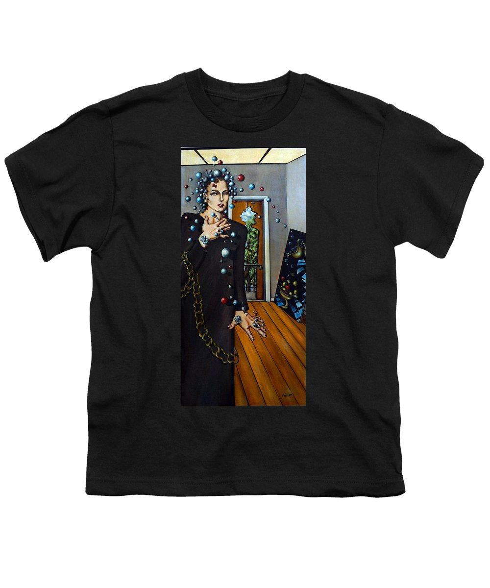 Surreal Youth T-Shirt featuring the painting Existential Thought by Valerie Vescovi