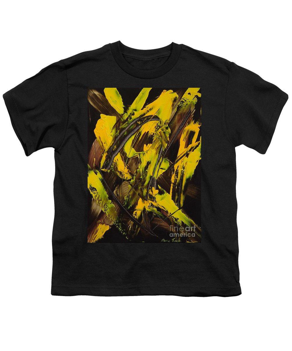 Abstract Youth T-Shirt featuring the painting Expectations Yellow by Dean Triolo