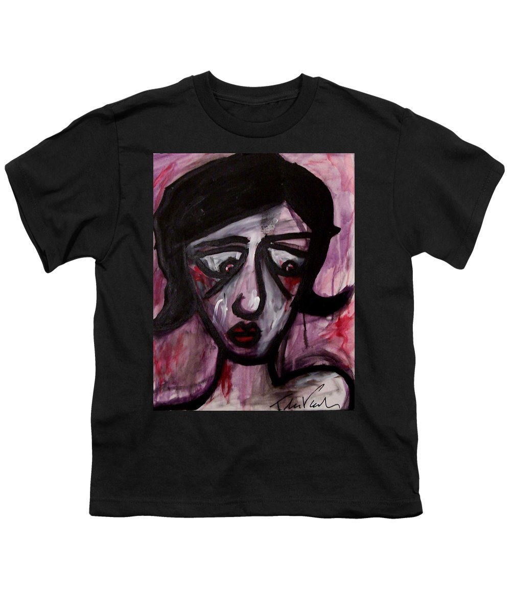 Portait Youth T-Shirt featuring the painting Finals by Thomas Valentine