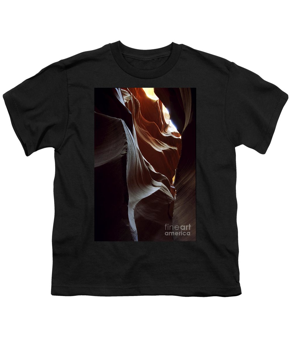 Antelope Canyon Youth T-Shirt featuring the photograph Follow The Light by Kathy McClure