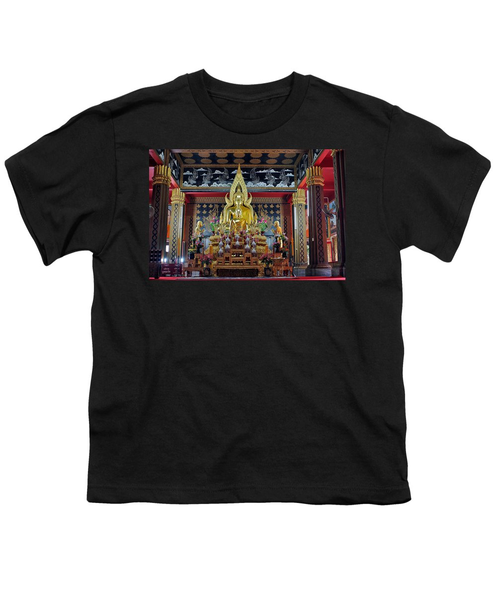 3scape Photos Youth T-Shirt featuring the photograph Golden Buddha by Adam Romanowicz