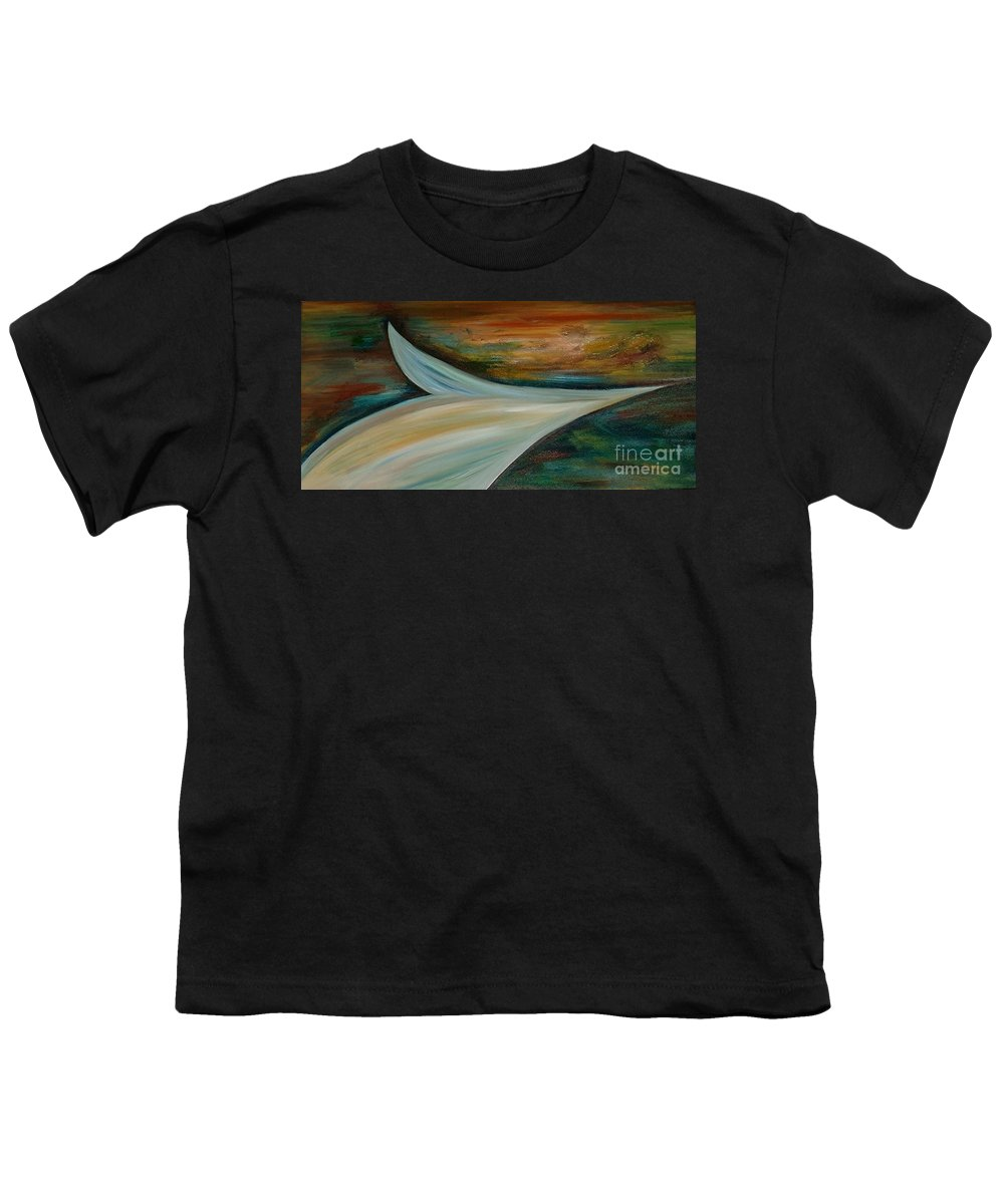 Modern Art Youth T-Shirt featuring the painting Heaven by Silvana Abel