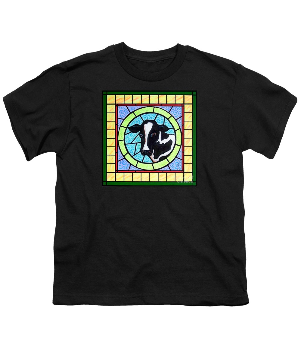 Cattle Youth T-Shirt featuring the painting Holstein 4 by Jim Harris