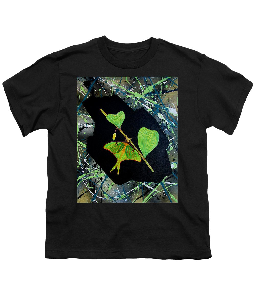 Abstract Youth T-Shirt featuring the painting Imperfect IIi by Micah Guenther