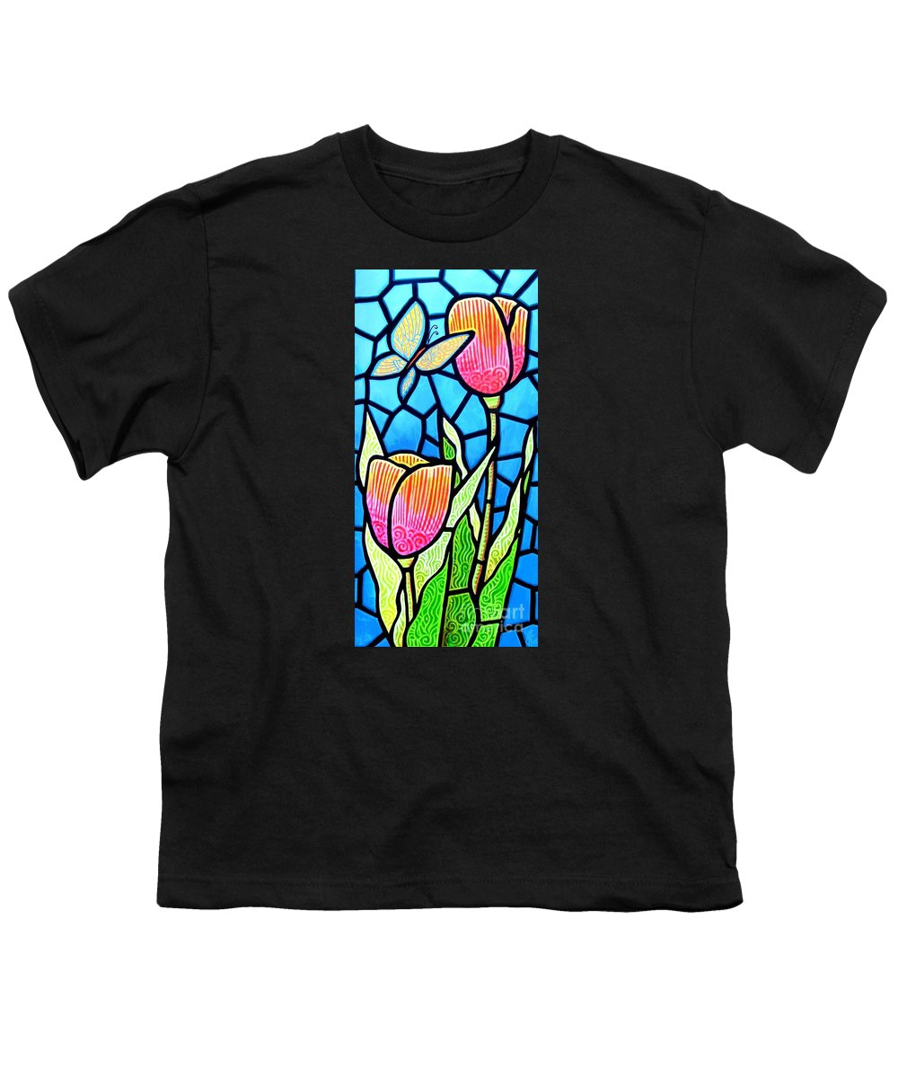 Butterflies Youth T-Shirt featuring the painting Just Visiting by Jim Harris