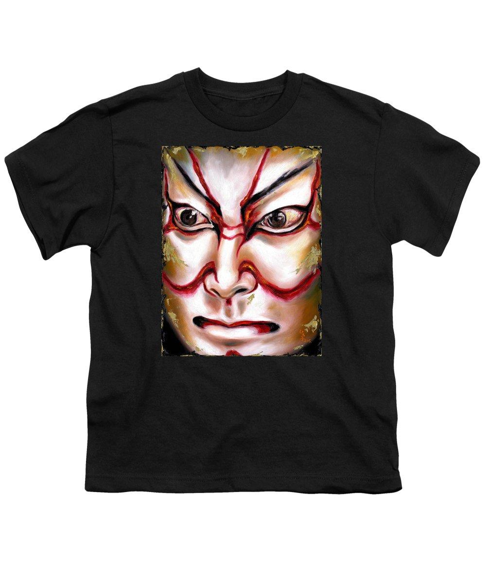 Kabuki Youth T-Shirt featuring the painting Kabuki One by Hiroko Sakai