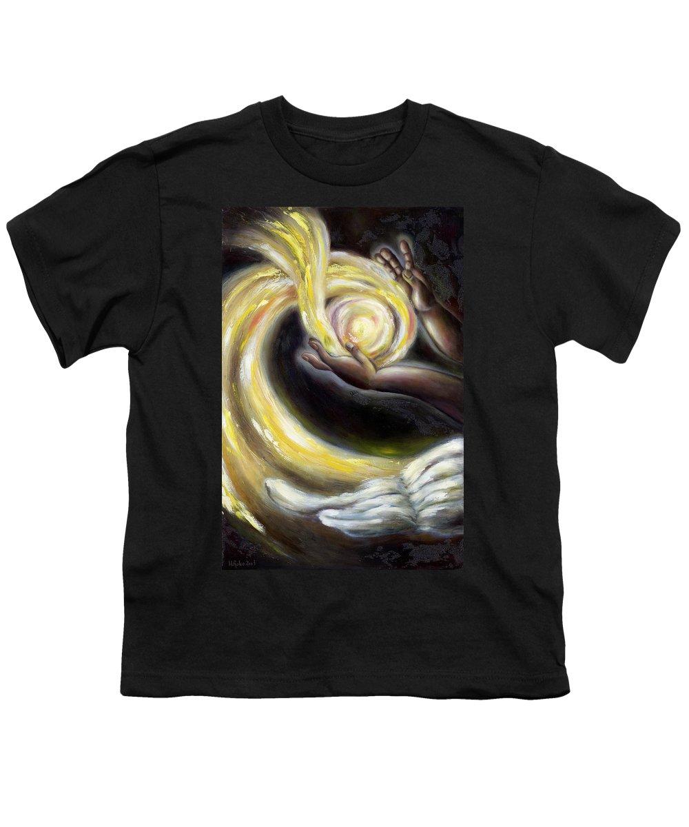 Angel Youth T-Shirt featuring the painting Magic by Hiroko Sakai