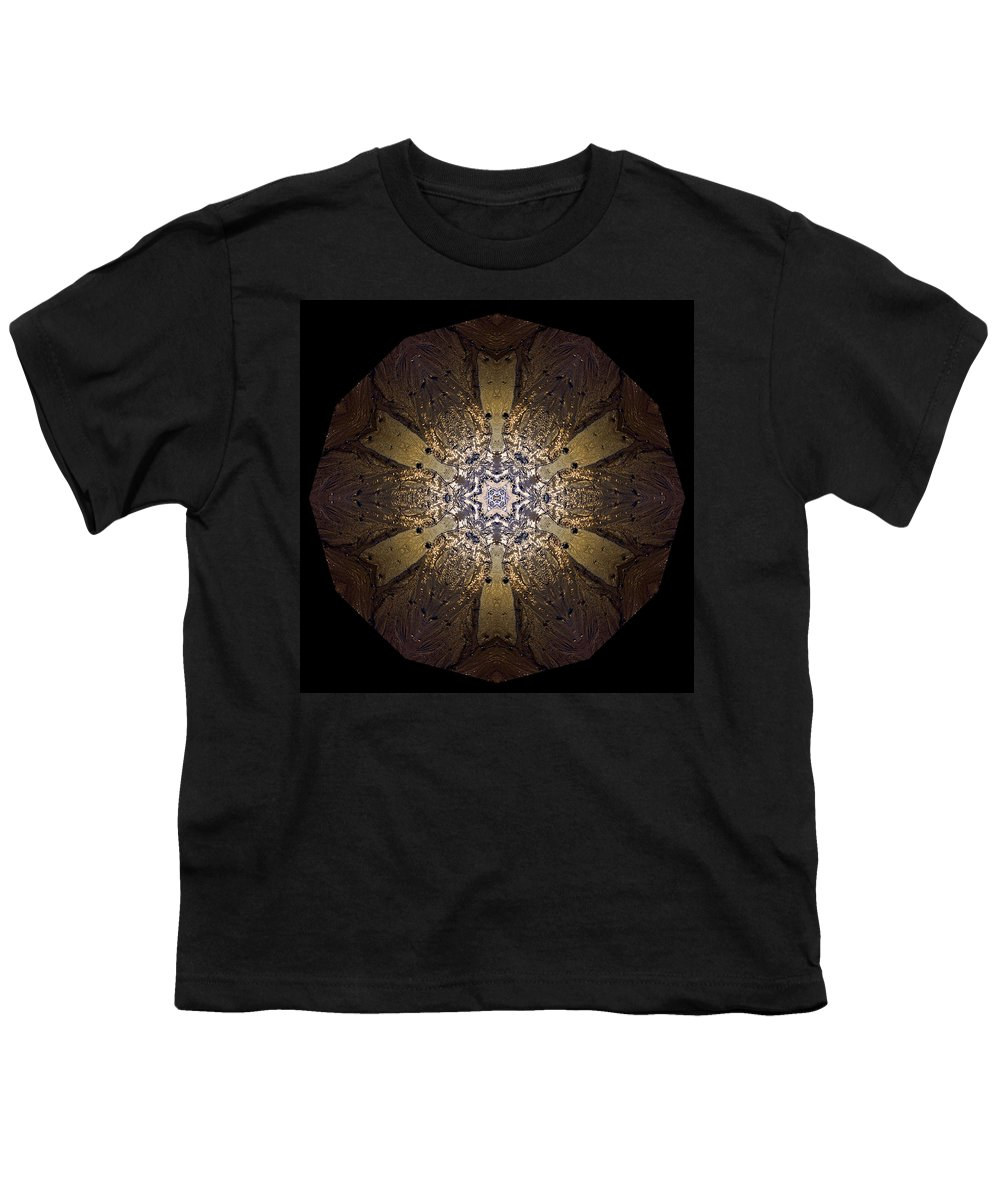 Mandala Youth T-Shirt featuring the photograph Mandala Sand Dollar At Wells by Nancy Griswold