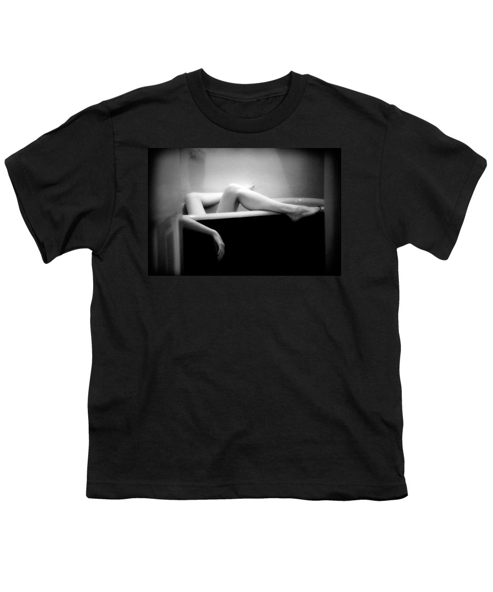 Female Nude Youth T-Shirt featuring the photograph Melting by Lindsay Garrett