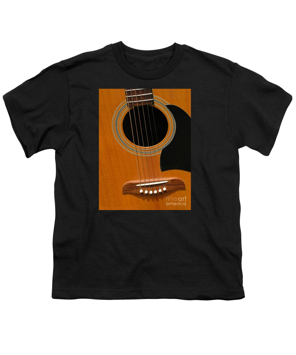 Guitar Youth T-Shirt featuring the photograph Musical Abstraction by Ann Horn