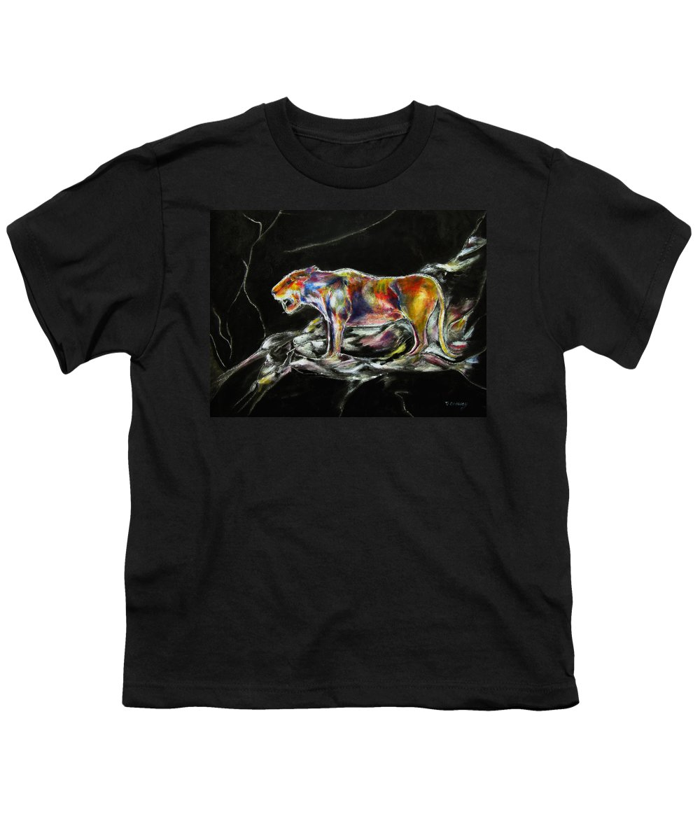 Animals Youth T-Shirt featuring the painting No Fear by Tom Conway
