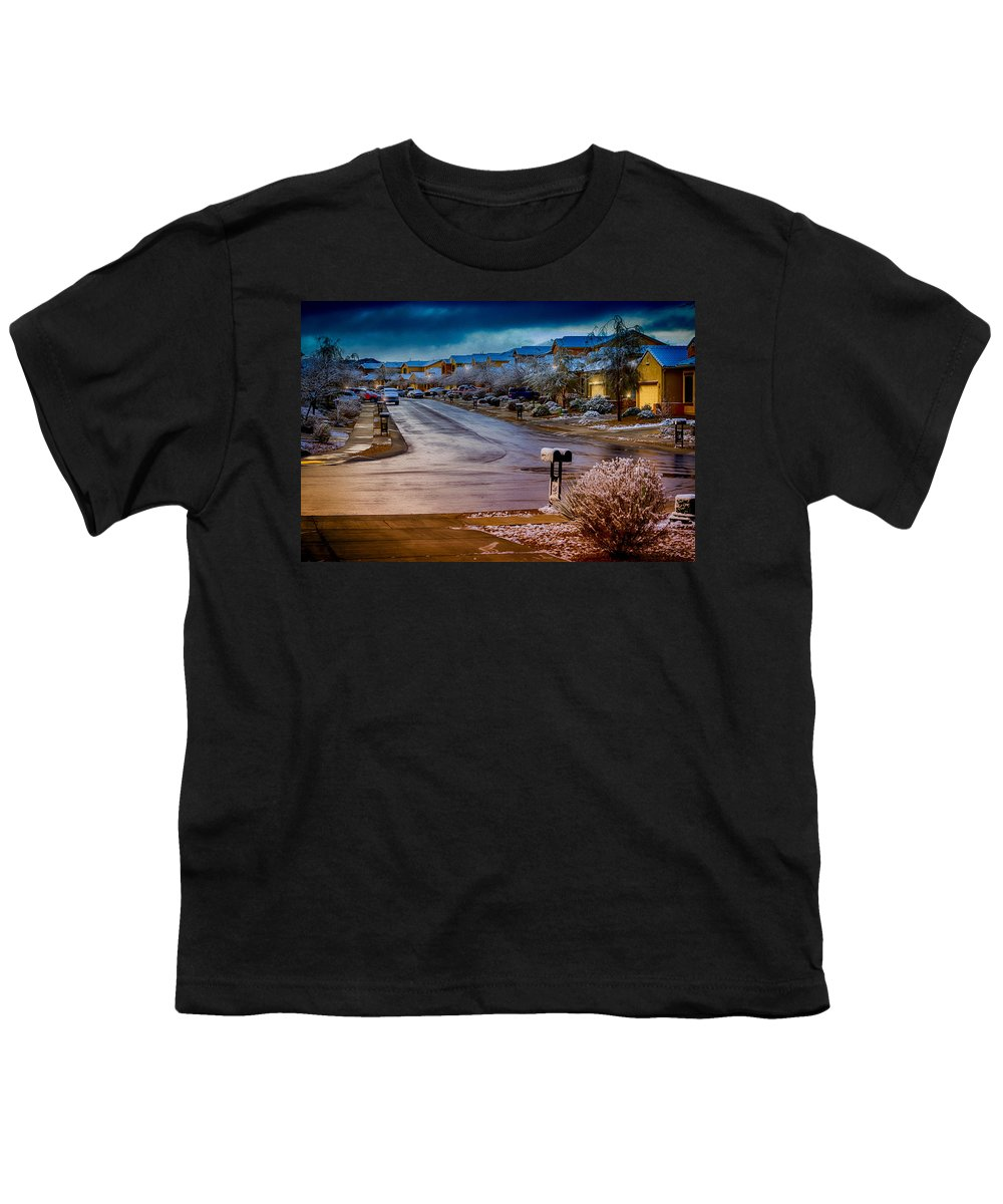 Myhaver Photography Youth T-Shirt featuring the photograph Oro Valley Winter No.54 by Mark Myhaver