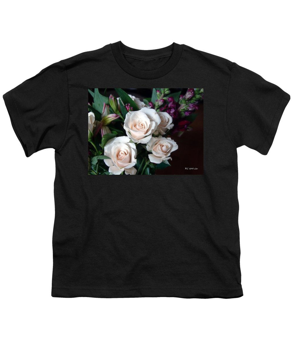 Flowers Youth T-Shirt featuring the photograph Pardon My Blush by RC DeWinter