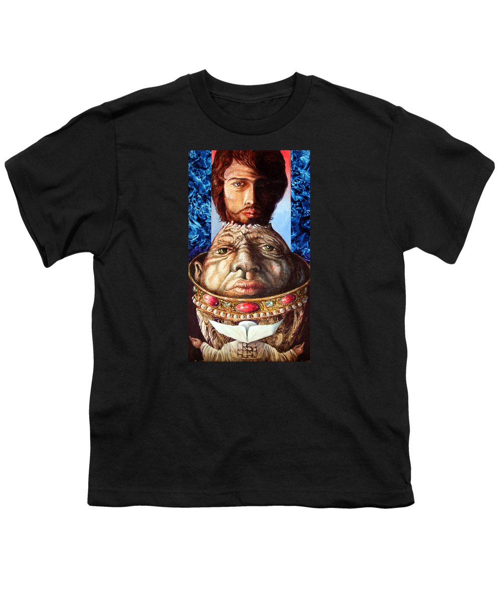 Surrealism Youth T-Shirt featuring the painting Parthenogenesis II by Otto Rapp