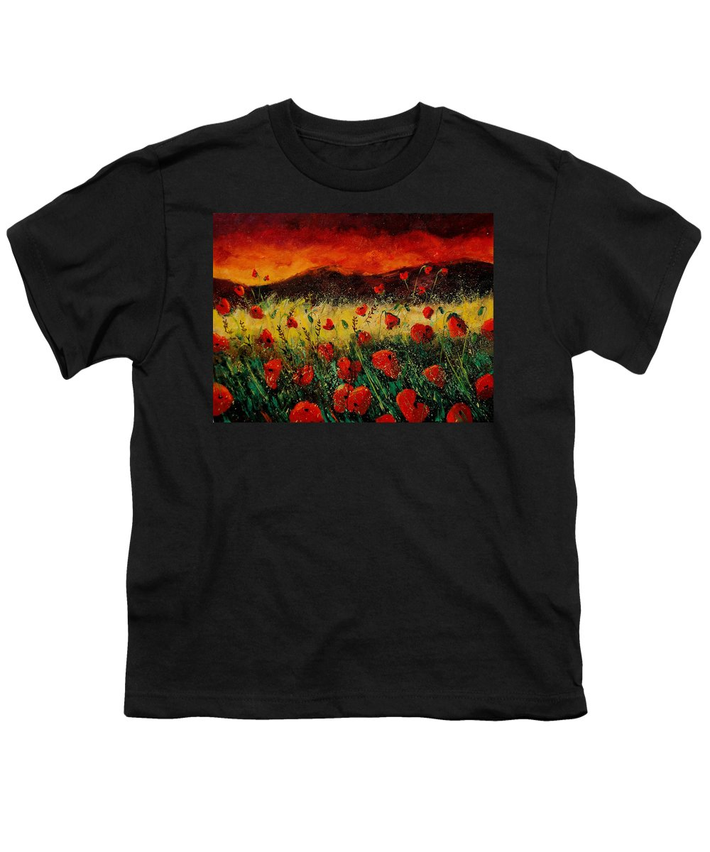 Poppies Youth T-Shirt featuring the painting Poppies 68 by Pol Ledent
