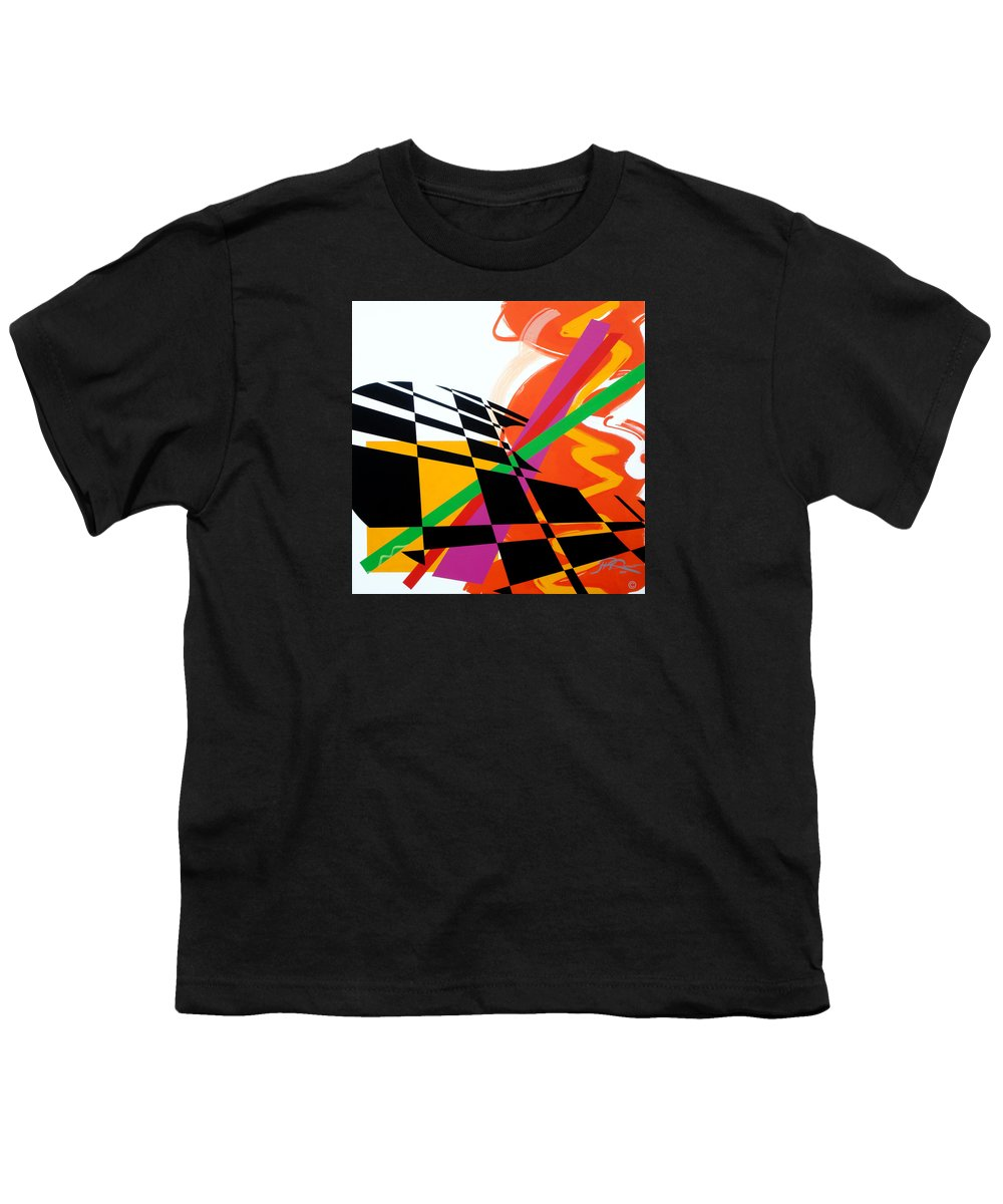 Abstract Youth T-Shirt featuring the painting Red Movement by Jean Pierre Rousselet