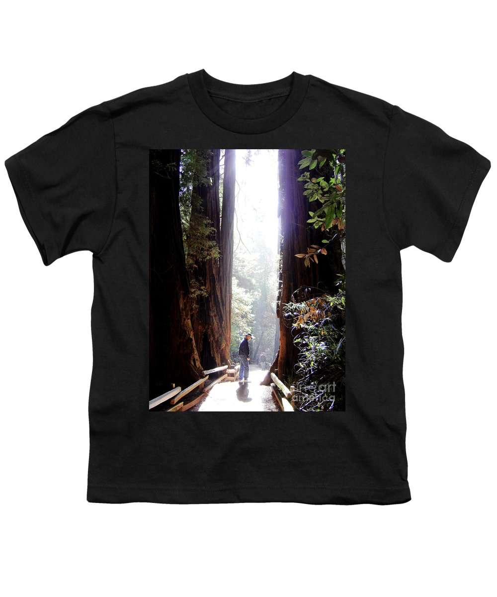 Pathway Youth T-Shirt featuring the photograph Redwood Path by Mary Rogers