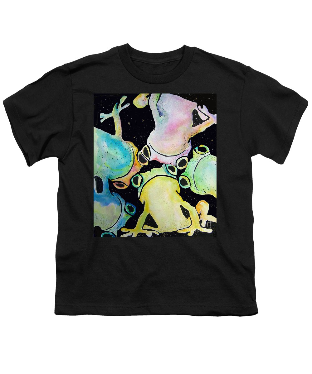 Pat Saunders-white Youth T-Shirt featuring the mixed media Reflecting Pond by Pat Saunders-White