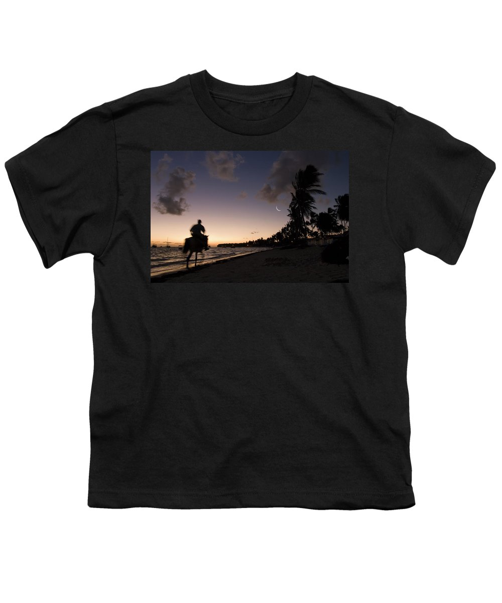 3scape Photos Youth T-Shirt featuring the photograph Riding On The Beach by Adam Romanowicz