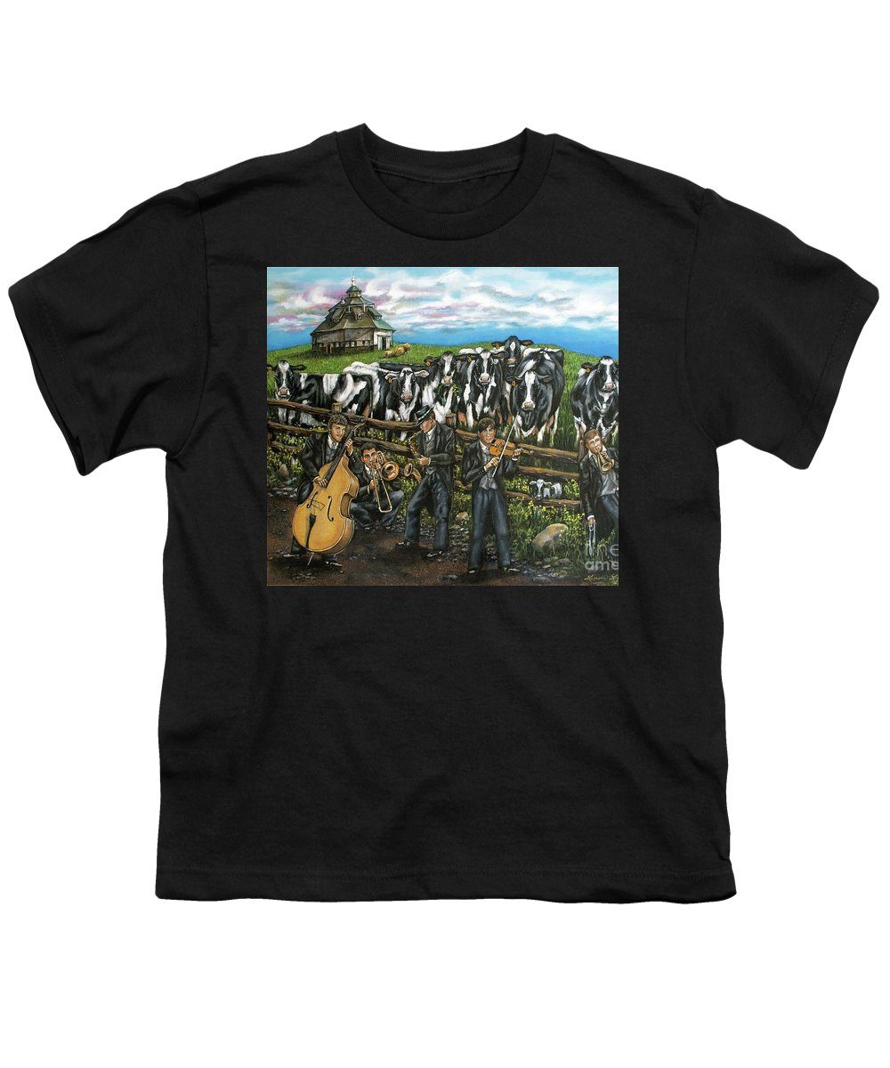 Linda Simon Youth T-Shirt featuring the painting Semi-formal by Linda Simon