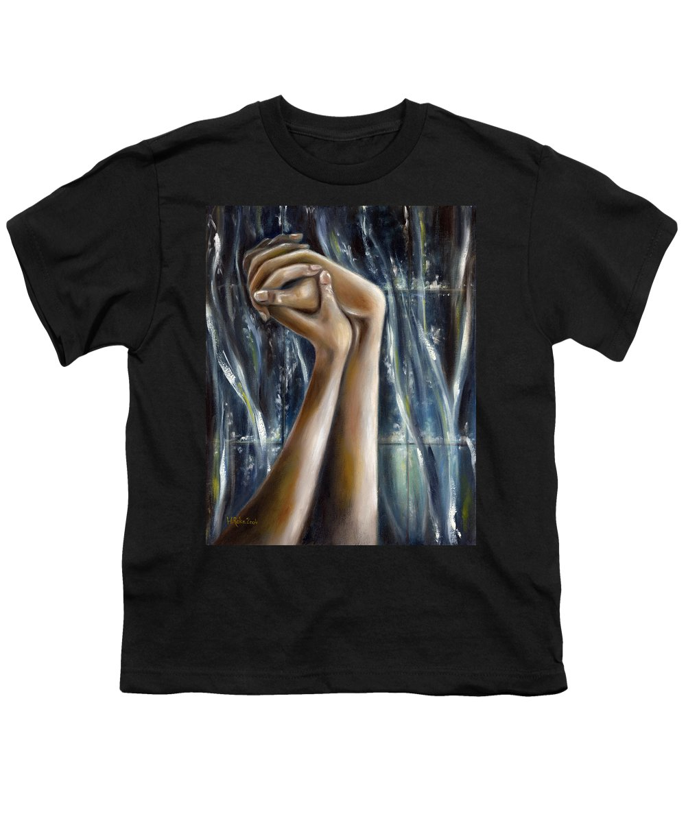 Blue Youth T-Shirt featuring the painting Snow Light by Hiroko Sakai
