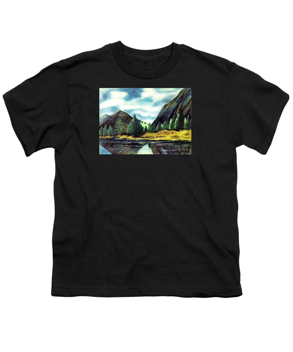 Fine Art Youth T-Shirt featuring the painting Solitude by Patricia Griffin Brett