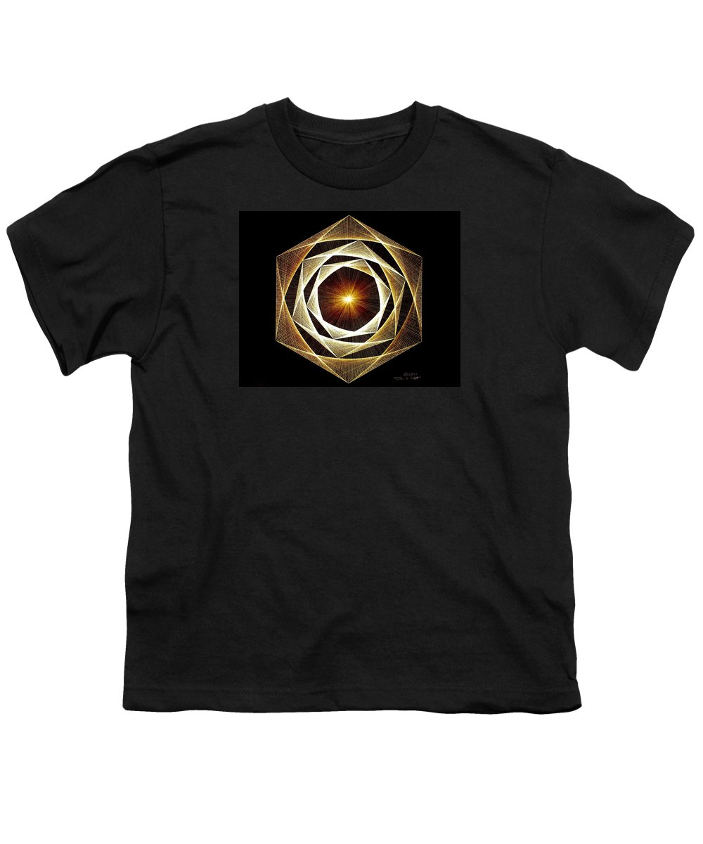 Fractal Youth T-Shirt featuring the drawing Spiral Scalar by Jason Padgett