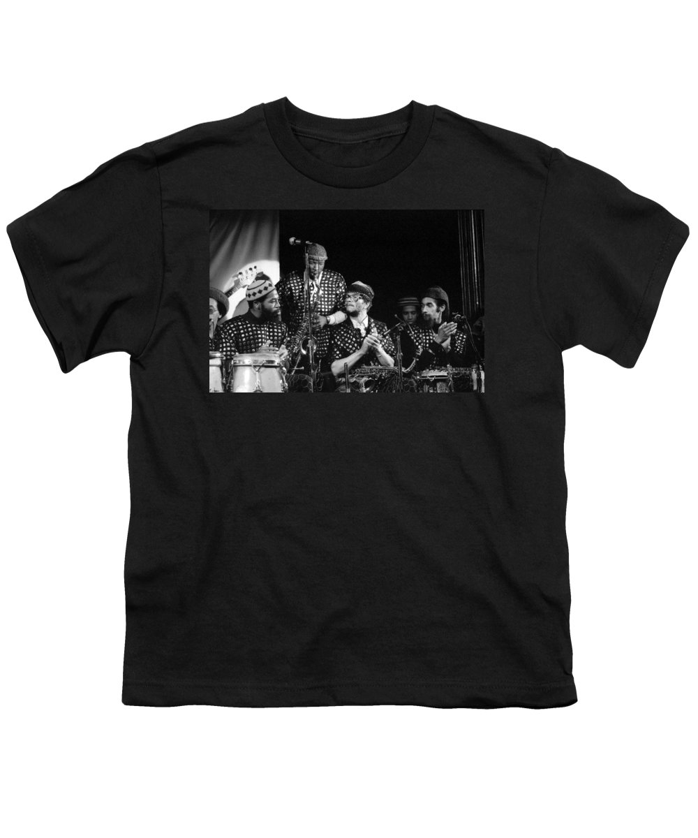 Jazz Youth T-Shirt featuring the photograph Sun Ra Arkestra With John Gilmore by Lee Santa