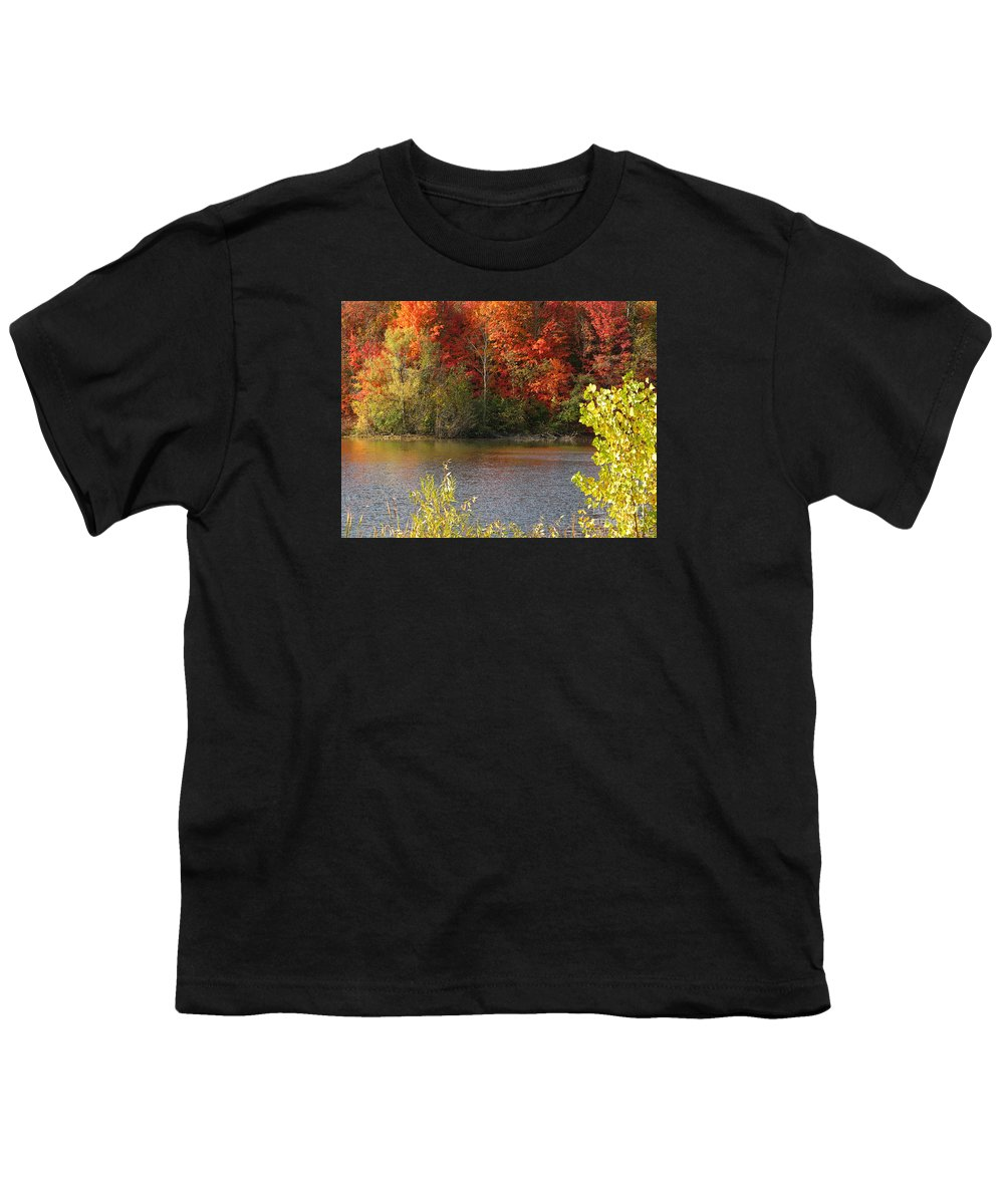 Autumn Youth T-Shirt featuring the photograph Sunlit Autumn by Ann Horn