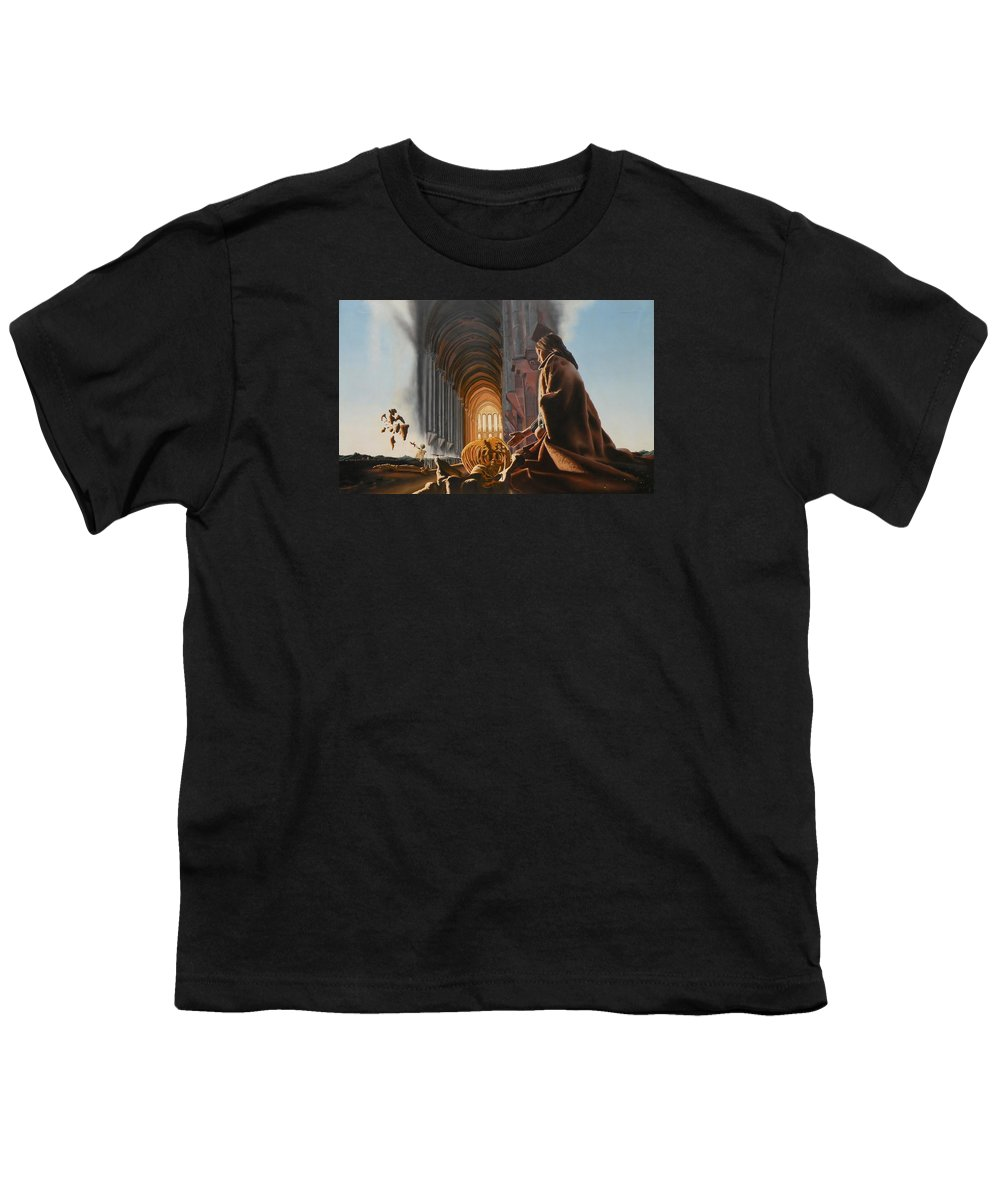 Surreal Youth T-Shirt featuring the painting Surreal Cathedral by Dave Martsolf