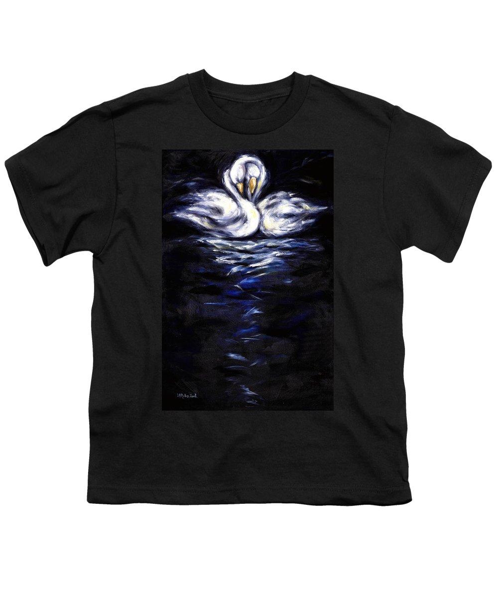 Bird Youth T-Shirt featuring the painting Swan by Hiroko Sakai