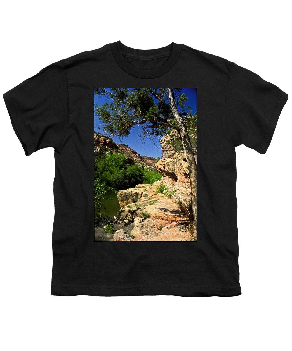 Arizona Youth T-Shirt featuring the photograph Sycamore Canyon by Kathy McClure