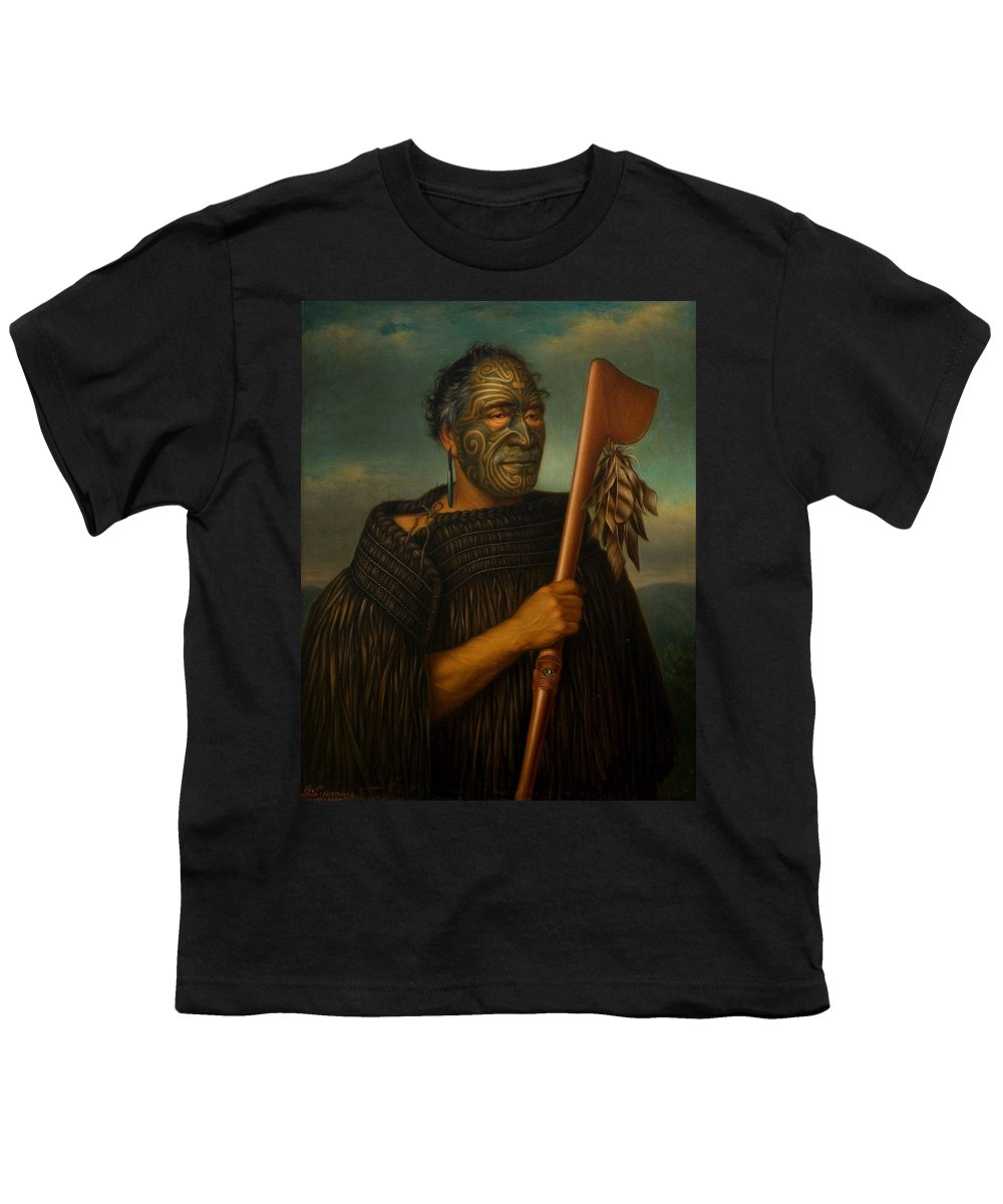 Painting Youth T-Shirt featuring the painting Tamata Waka Nene by Mountain Dreams