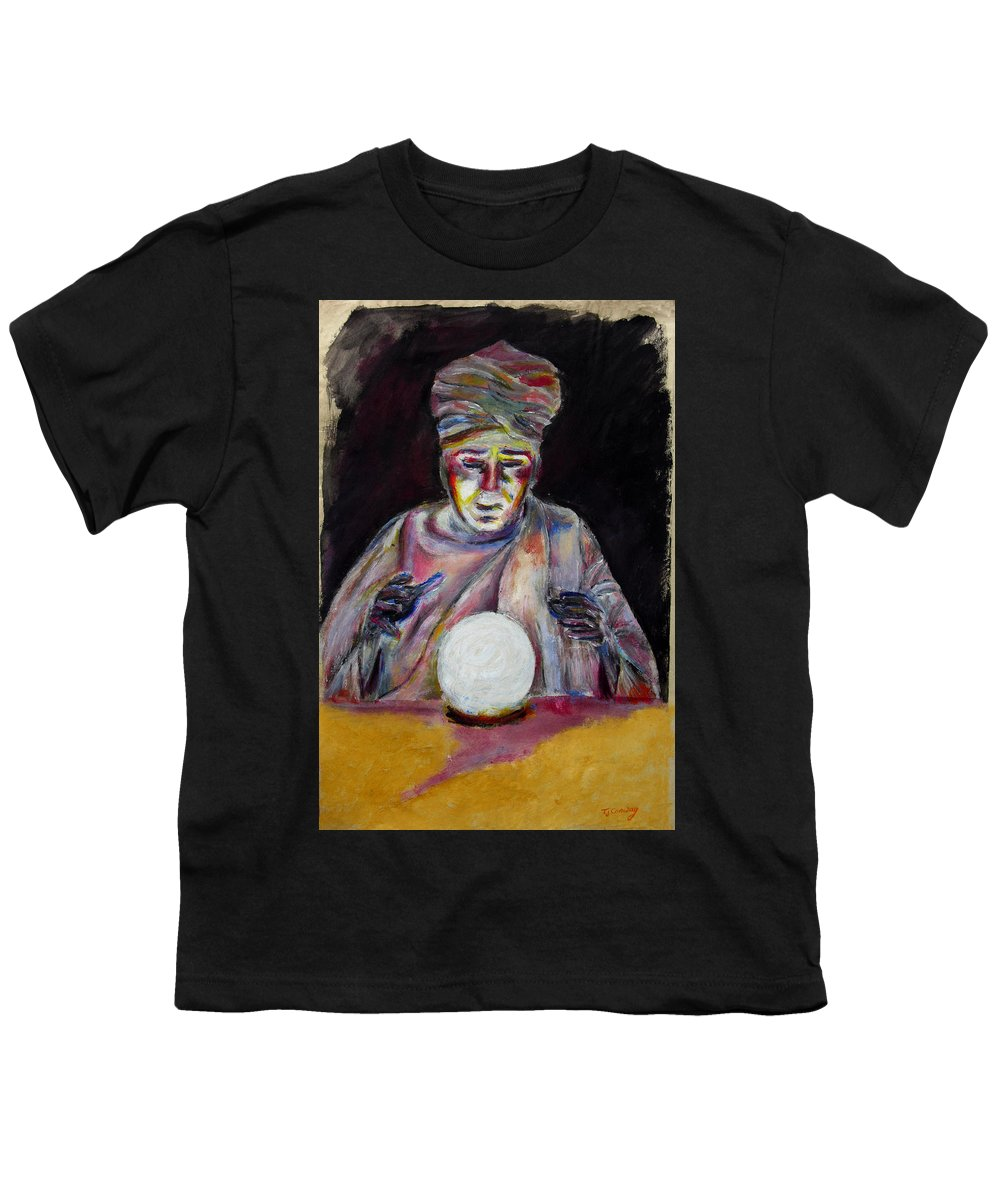Fortune Tellers Youth T-Shirt featuring the painting The Fortune Teller by Tom Conway