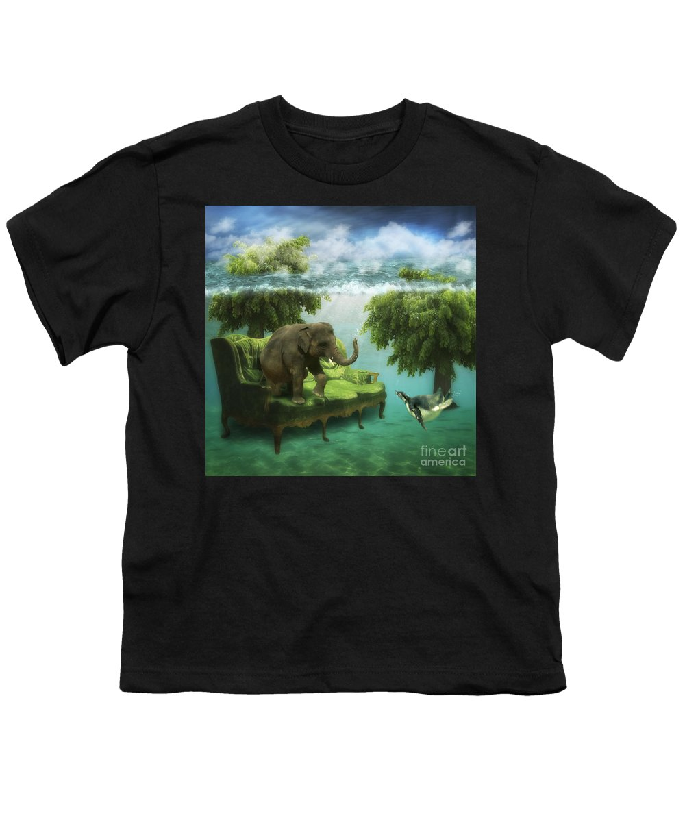 Animal Youth T-Shirt featuring the photograph The Green Room by Martine Roch