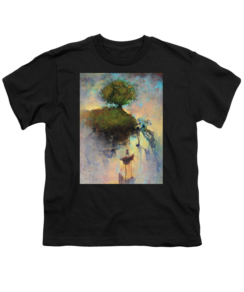 Joshua Smith Youth T-Shirt featuring the painting The Hiding Place by Joshua Smith
