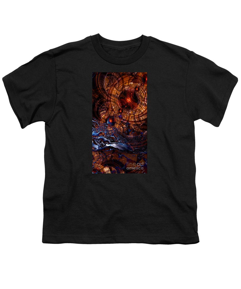 Time After Time Youth T-Shirt featuring the digital art Time After Time by Kimberly Hansen