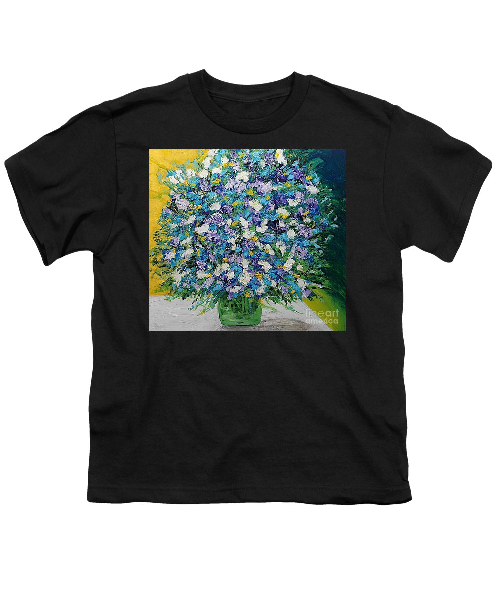 Landscape Youth T-Shirt featuring the painting To Have And Delight by Allan P Friedlander