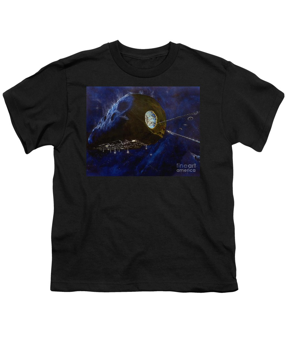 Oil Youth T-Shirt featuring the painting Tomorrow by Murphy Elliott