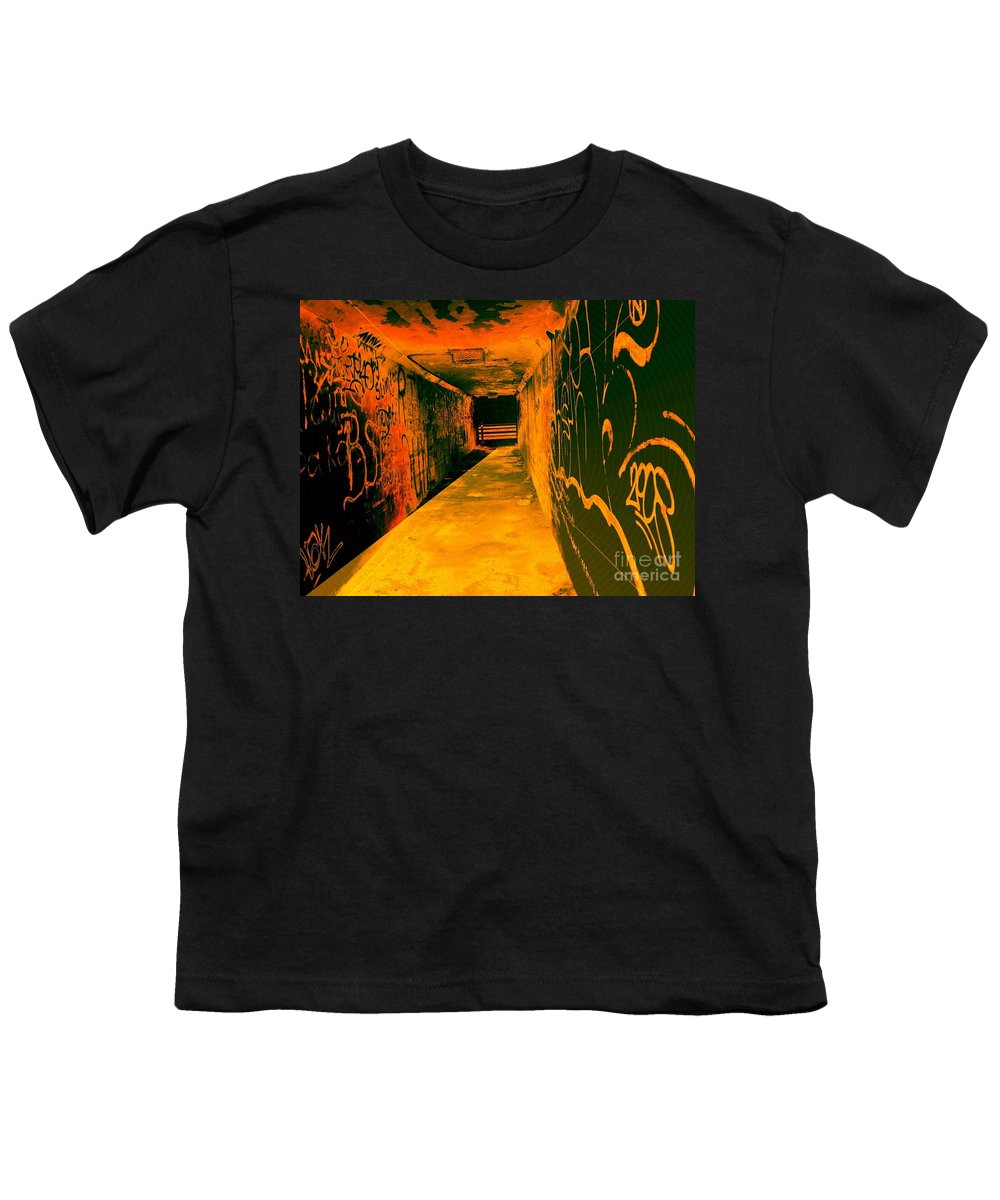 Tunnel Youth T-Shirt featuring the photograph Under The Bridge by Ze DaLuz