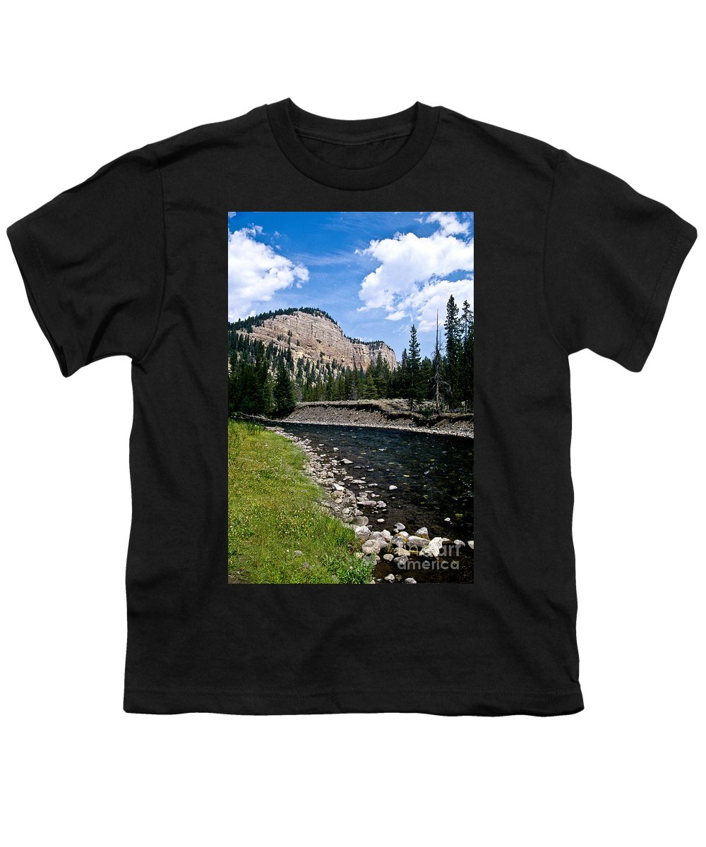 Landscape Youth T-Shirt featuring the photograph Upriver In Washake Wilderness by Kathy McClure