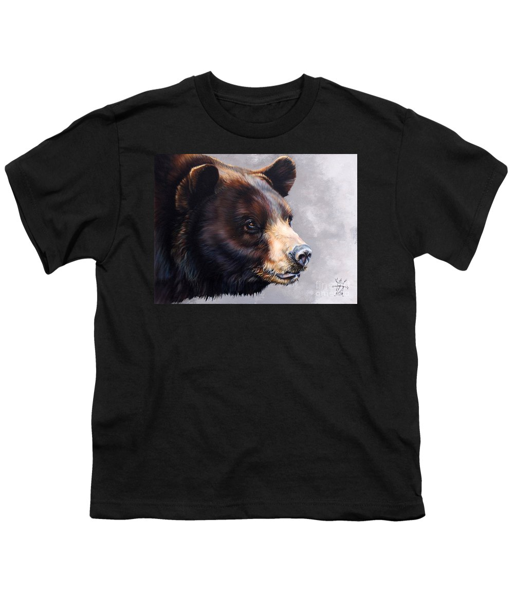 Bear Youth T-Shirt featuring the painting Ursa Major by J W Baker
