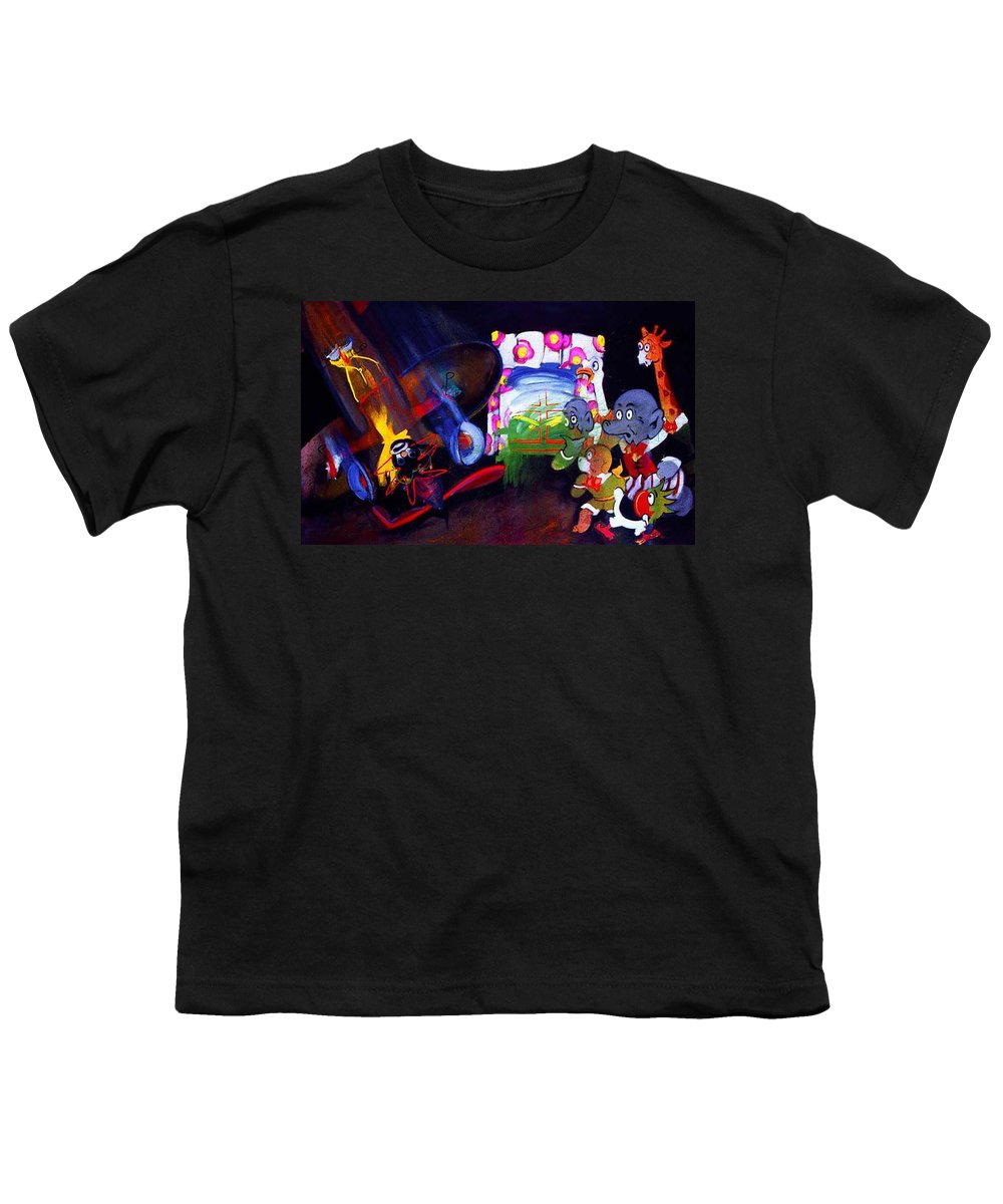 Cartoon Youth T-Shirt featuring the painting Watch With Mother by Charles Stuart
