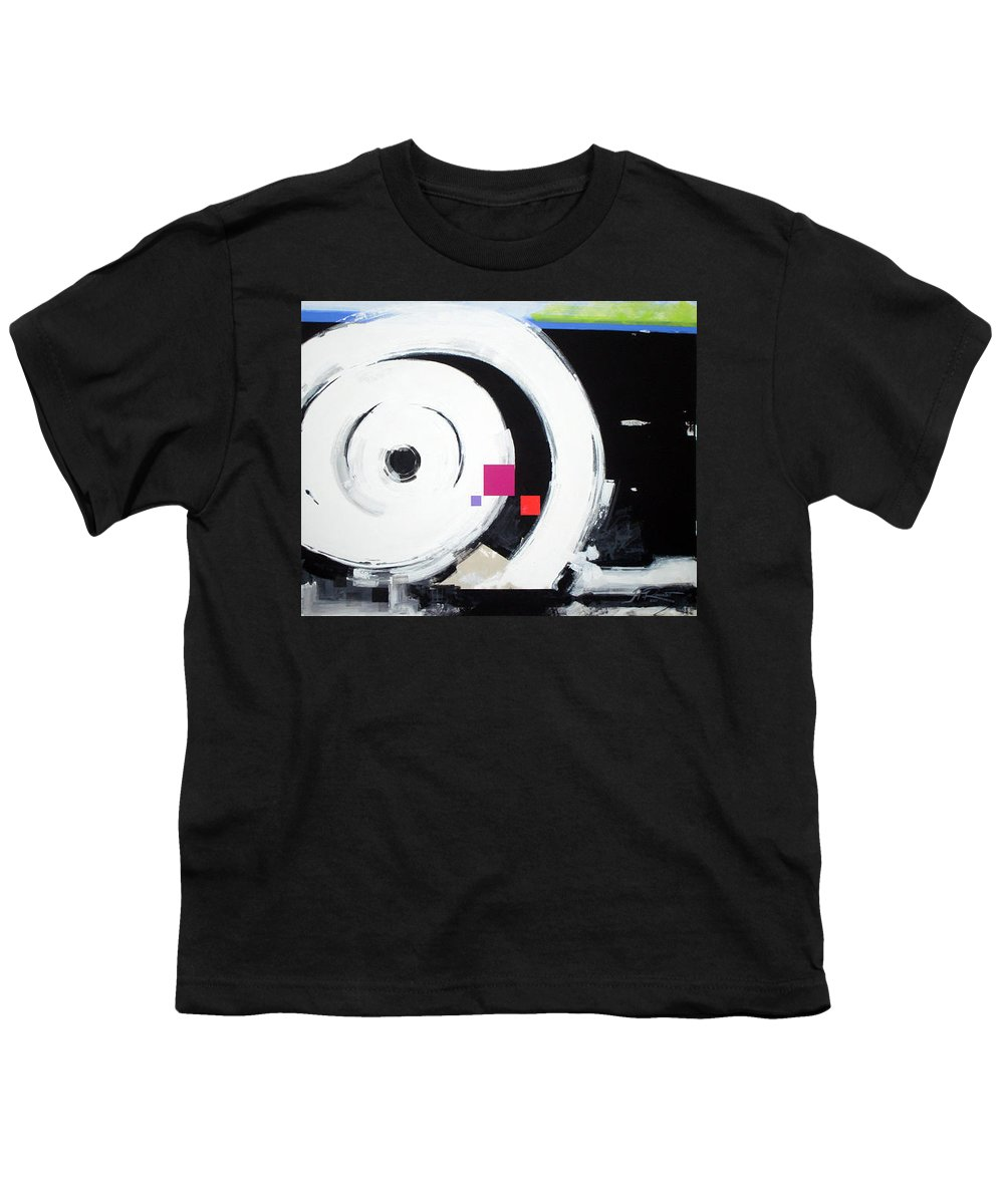 Abstract Youth T-Shirt featuring the painting Wheel Of Fortune by Jean Pierre Rousselet