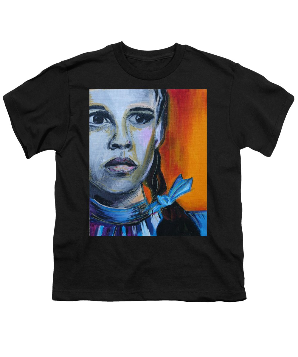 Wizard Of Oz Youth T-Shirt featuring the painting Dorothy by Kate Fortin