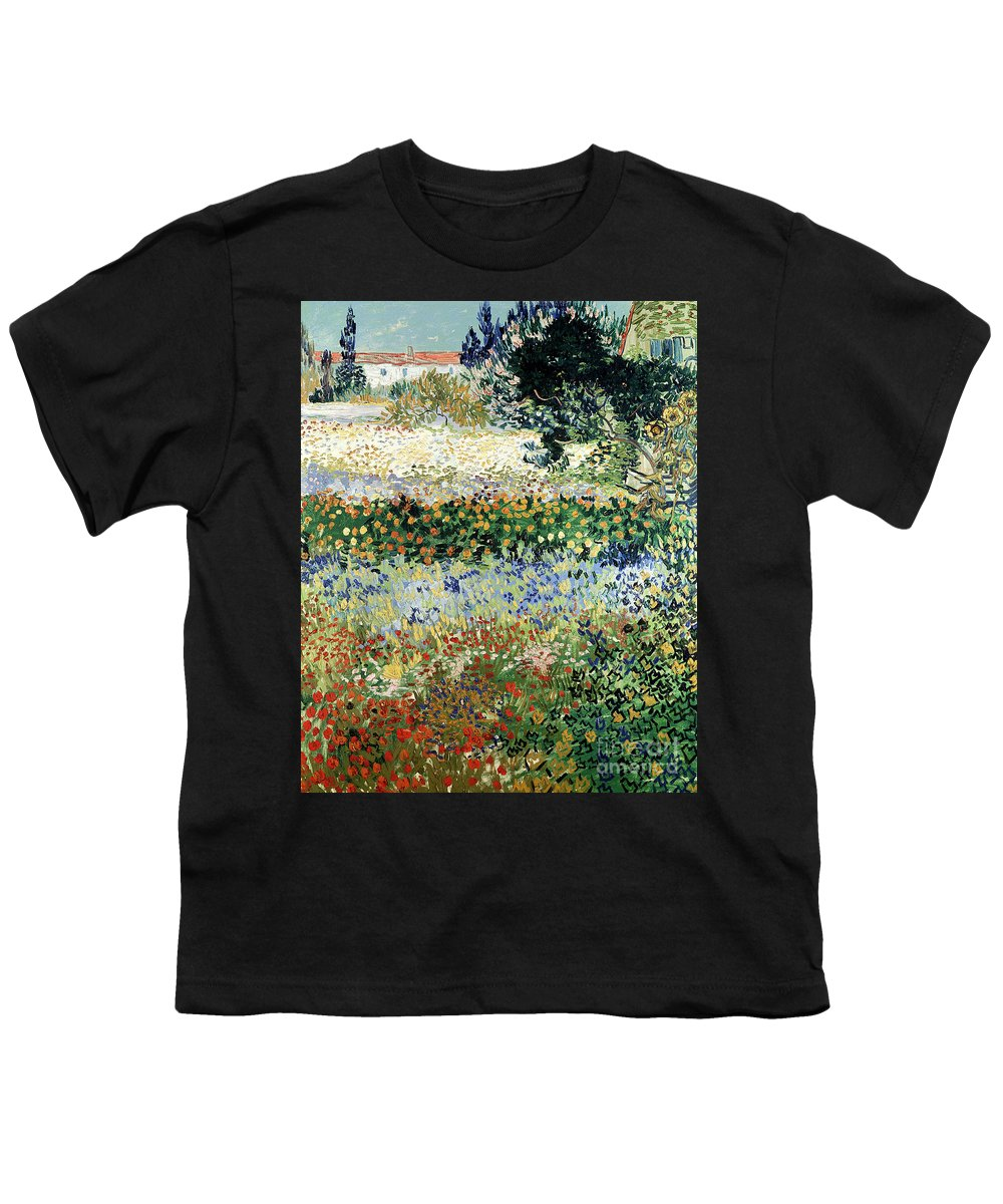 Garden In Bloom Youth T-Shirt featuring the painting Garden In Bloom by Vincent Van Gogh