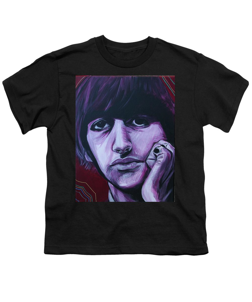 Beatles Youth T-Shirt featuring the painting Ringo Star by Kate Fortin